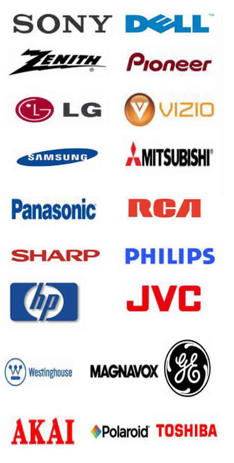 Popular Television Brands  That Are Serviced